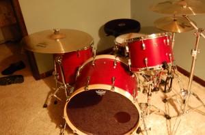 4 Pc Drum Set after 18 coats