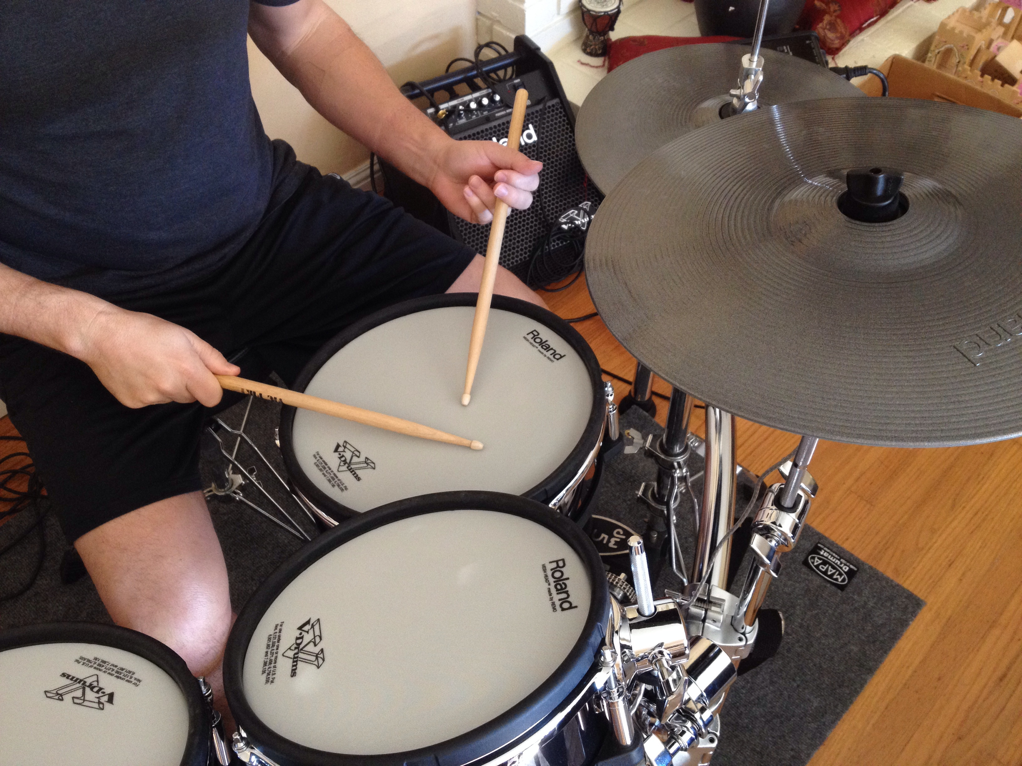 traditional drumming grip