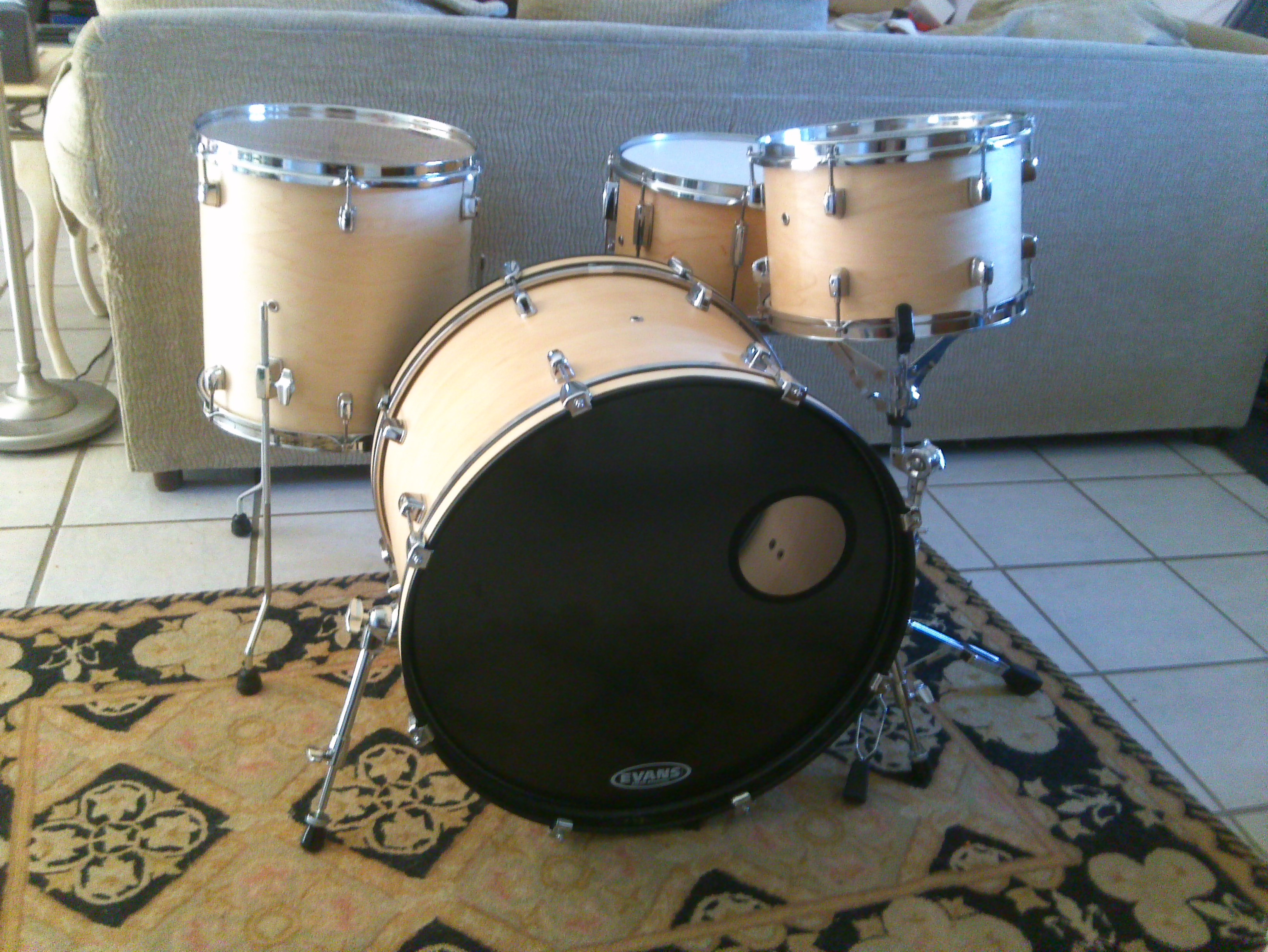 custom maple drum set