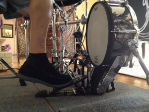 Slide bass drum technique