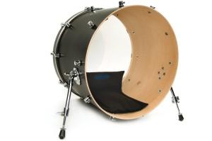 bass drum muffled
